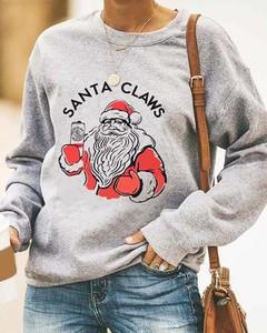 Bluza Kendallme w bożonarodzeniowy wzór w młodzieżowym stylu z bawełny
