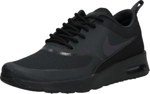 Czarne buty sportowe Nike Sportswear z płaską podeszwą sznurowane