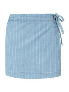 Niebieska spódnica Review z bawełny mini