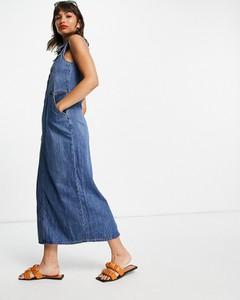 Niebieska sukienka Lost Ink koszulowa
