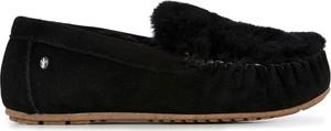Czarne półbuty Emu Australia w stylu casual z płaską podeszwą