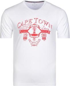 T-shirt Fynch Hatton w młodzieżowym stylu z nadrukiem z krótkim rękawem