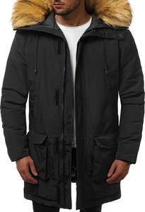 Czarna kurtka Ozonee w stylu casual