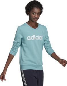 Niebieska bluza Adidas w sportowym stylu z bawełny