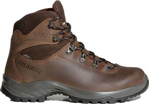 Brązowe buty trekkingowe Dolomite z nubuku sznurowane