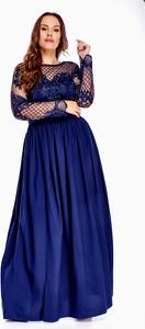 Sukienka QUARELLE z okrągłym dekoltem z długim rękawem z tiulu