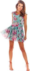 Sukienka Awama mini rozkloszowana w stylu casual