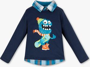 Niebieska koszulka dziecięca Palomino z bawełny z długim rękawem