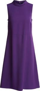 Fioletowa sukienka Set z golfem w stylu casual mini