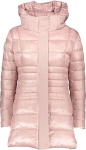 Różowy płaszcz Winter Selection w stylu casual