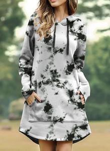 Sukienka Sandbella z długim rękawem z dresówki