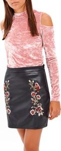 Różowa bluzka Gate z długim rękawem