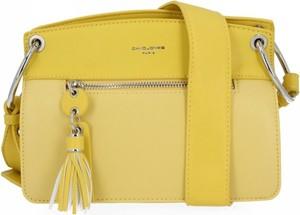 Żółta torebka David Jones ze skóry ekologicznej