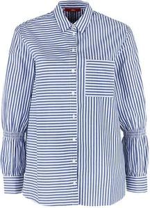 Niebieska koszula S.Oliver z długim rękawem z kołnierzykiem