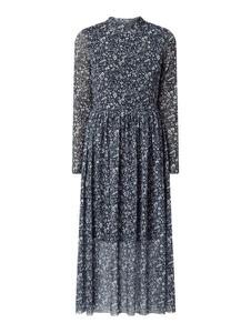 Granatowa sukienka Tom Tailor Denim z kołnierzykiem midi w stylu casual