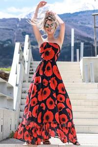 Czerwona sukienka Ivet.pl w stylu casual