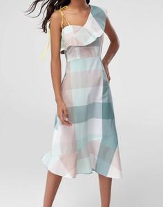 Sukienka Trendyol z asymetrycznym dekoltem midi asymetryczna