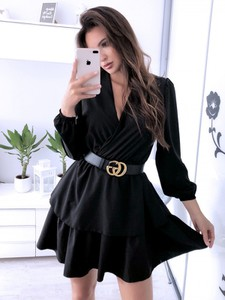 Czarna sukienka Magmac z długim rękawem
