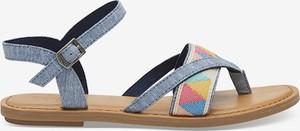 Niebieskie sandały Toms w stylu casual z klamrami