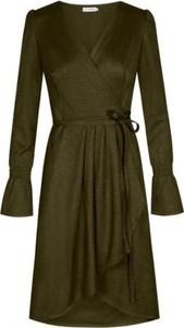 Zielona sukienka Flawdress z dekoltem w kształcie litery v