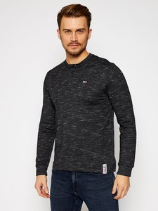 Czarny t-shirt Tommy Jeans z długim rękawem w stylu casual