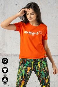 Pomarańczowy t-shirt Nessi Sportswear z krótkim rękawem