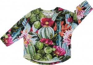 Zielona bluza dziecięca ilovemilk.pl w kwiaty dla dziewczynek