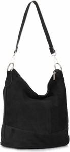 Czarna torebka VITTORIA GOTTI duża na ramię w stylu casual