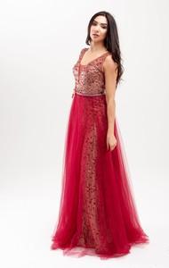 Sukienka Butik Ecru na ramiączkach maxi z dekoltem w kształcie litery v