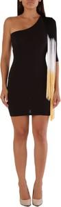 Czarna sukienka Met mini z bawełny