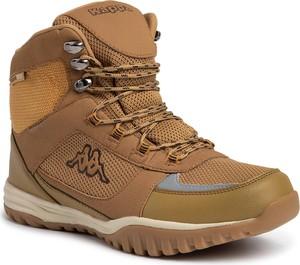 Żółte buty zimowe Kappa sznurowane