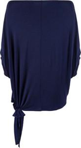 Niebieska bluzka CAHA w stylu casual z długim rękawem