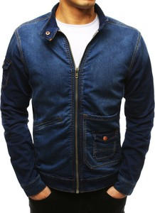 Niebieska kurtka Dstreet z jeansu w street stylu