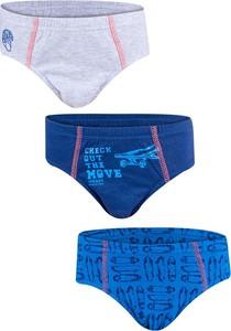 Niebieskie majtki dziecięce yoclub dla chłopców z bawełny