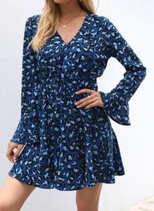 Niebieska sukienka Cikelly sportowa