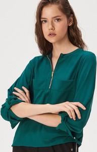 Zielona bluzka Sinsay z długim rękawem