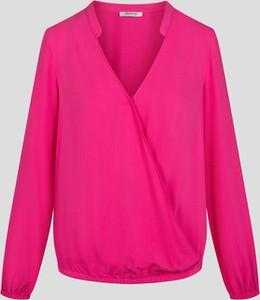 Różowa bluzka ORSAY z długim rękawem z dekoltem w kształcie litery v