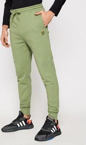 Zielone spodnie sportowe Lyle & Scott
