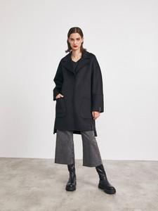 Płaszcz Metroopolis z wełny w stylu casual bez kaptura