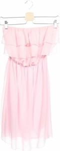 Różowa sukienka Miss 83 bez rękawów z okrągłym dekoltem