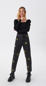 Jeansy House z jeansu z nadrukiem w stylu casual