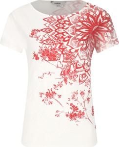 T-shirt Desigual z nadrukiem z krótkim rękawem