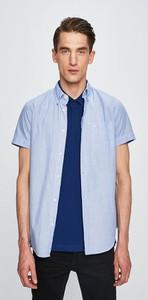 Niebieska koszula Wrangler z krótkim rękawem z bawełny