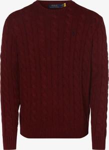 Czerwony sweter POLO RALPH LAUREN z wełny z okrągłym dekoltem w stylu casual