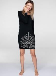 Sukienka Key w stylu etno mini z długim rękawem