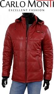 Czerwona kurtka Dorjan w rockowym stylu ze skóry krótka