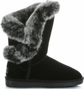Czarne śniegowce Crystal Shoes