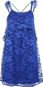 Niebieska sukienka Mango z dekoltem w kształcie litery v na ramiączkach w stylu casual