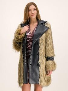 Brązowy płaszcz Silvian Heach