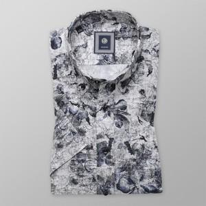 Koszula Willsoor z klasycznym kołnierzykiem z krótkim rękawem w młodzieżowym stylu